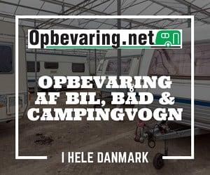 Opbevaring af campingvogn, bil og båd