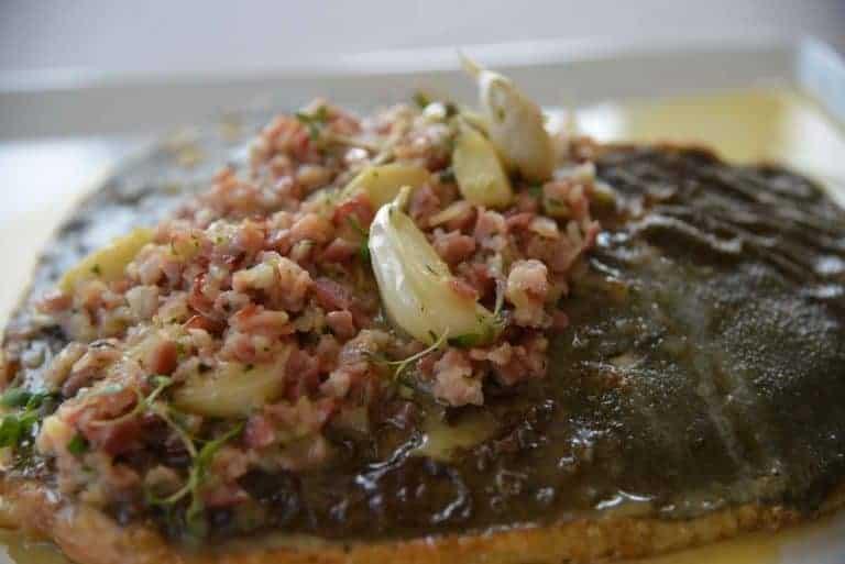 Pighvar Opskrift med bacon og hvidløg