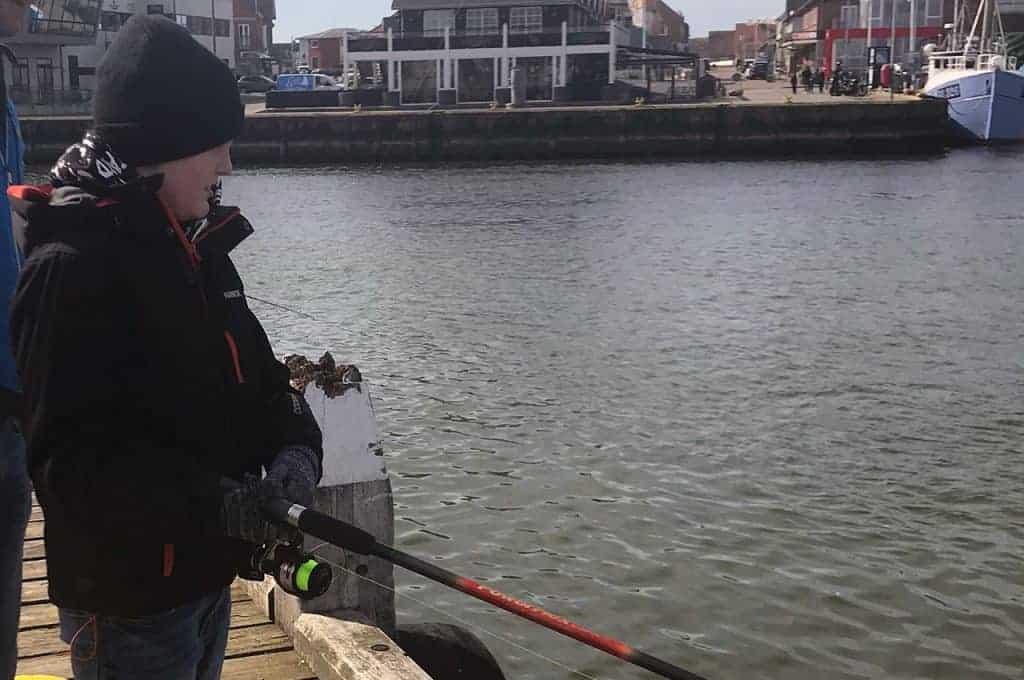 sildefiskeri med barn